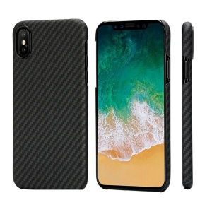 Чехол накладка Pitaka MagCase для iPhone X, carbon